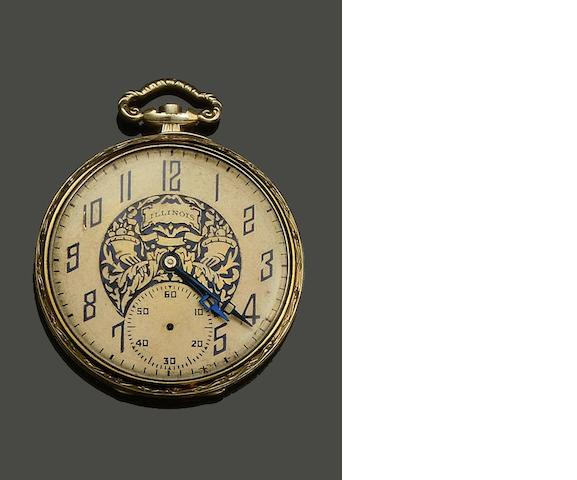 An American open face pocket watch