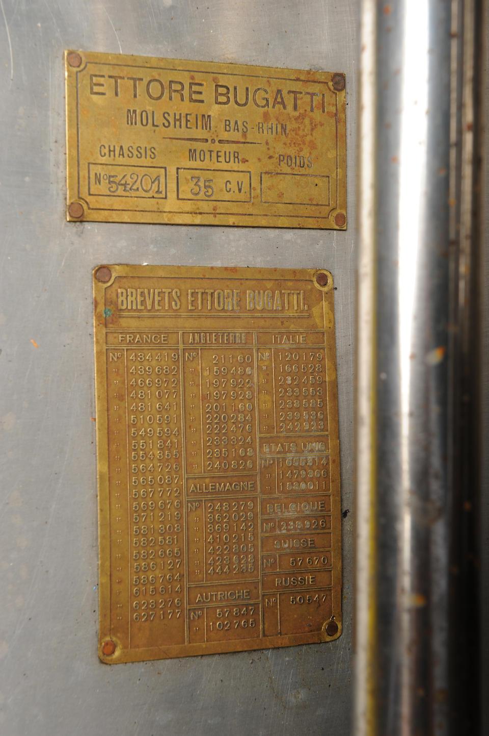 Ex-Achille Varzi, Prince Georg Lobkowicz, Zdenek Pohl, Peter Hampton – Victorieuse au GP de Monza,1931 BUGATTI TYPE 54 Grand Prix « usine » 4.9 litres à compresseur 1931  Chassis no. 54201 Engine no. 1