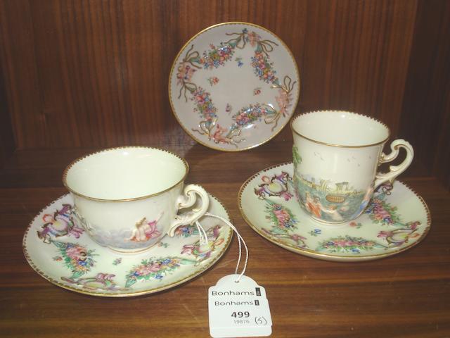 A group of Capodimonte style porcelain Circa 1900