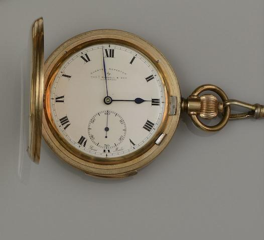 Thomas Russell: A quarter repeater hunter pocket watch