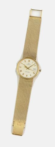 Omega: A gentleman's 9ct gold Seamaster wristwatch and a lady's wristwatch (2)