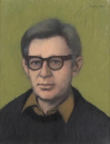 LEE, LAURIE (1914-1997) PORTRAIT BY ROBERT BUHLER R.A., 1970; AUTOGRAPH MANUSCRIPT OF HIS POEM 'APPLES';  TYPESCRIPT OF HIS POEM 'APRIL RISE' (3)