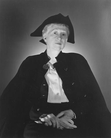 MOORE, MARIANNE (1887-1972, American poet) PORTRAIT BY GEORGE PLATT-LYNES
