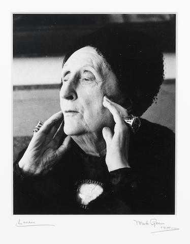 SITWELL, EDITH (1887-1964) PORTRAIT BY MARK GERSON, [1962]
