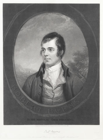 BURNS, ROBERT (1759-1796, Scottish poet) PORTRAIT BY HENRY SAMUEL SADD (1811-1993), AMERICAN ENGRAVER, AFTER ALEXANDER NASMYTH (1758-1840), New York, 1847