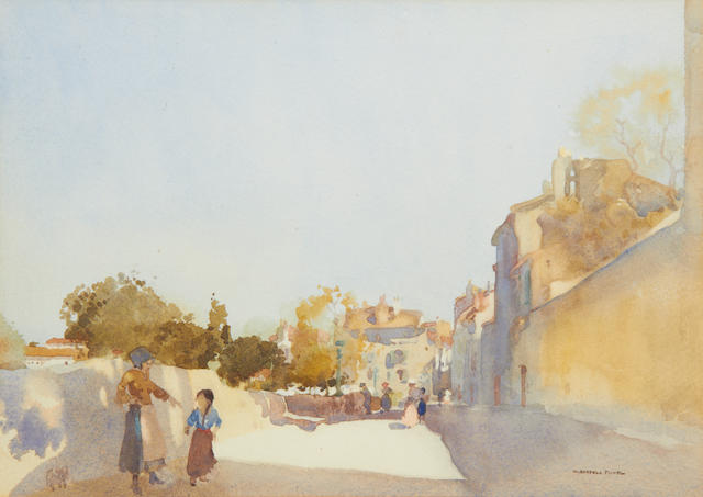 Sir William Russell Flint R.A., P.R.W.S. (British, 1880-1969) Angouleme