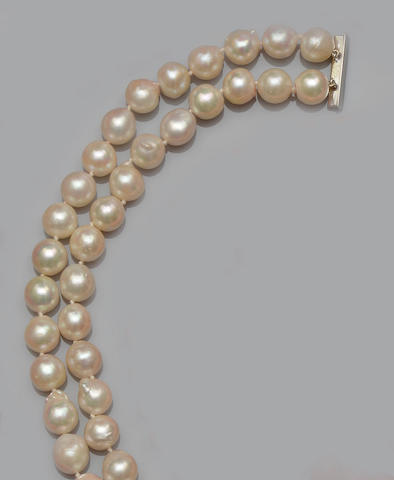 Two baroque pearl necklaces