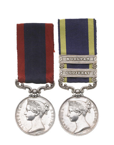 Pair to Surgeon Major R.S.O.Thring, Indian Cavalry, late 62nd Foot,