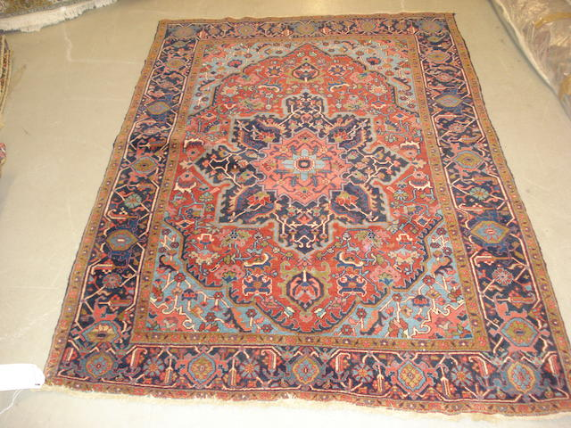 A Heriz rug, North West Persia, 199cm x 139cm