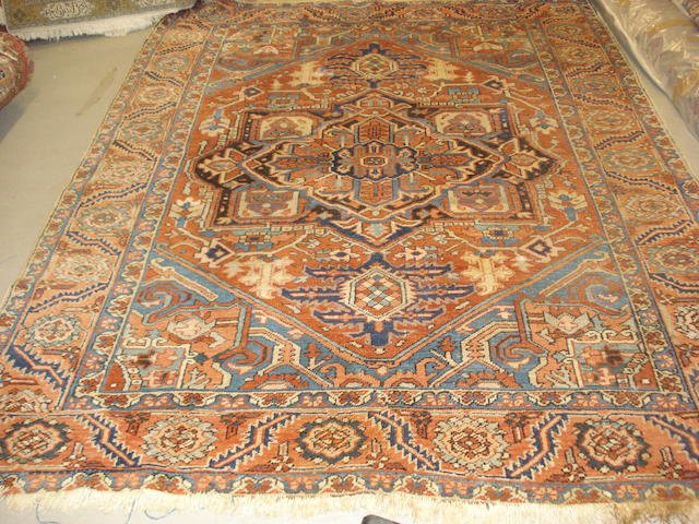 A Heriz carpet, North West Persia, 266cm x 214cm