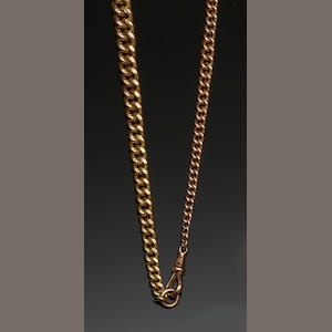Two 9ct gold Albert chains (2)