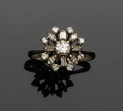 A diamond dress ring, circa 1970s