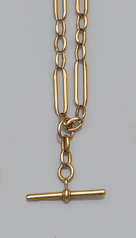 An 18ct gold Albert chain