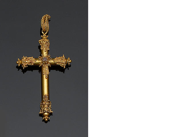 An early 19th century cross pendant