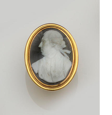 An 18th century cameo ring