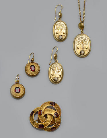 Two Victorian gem set jewellery suites