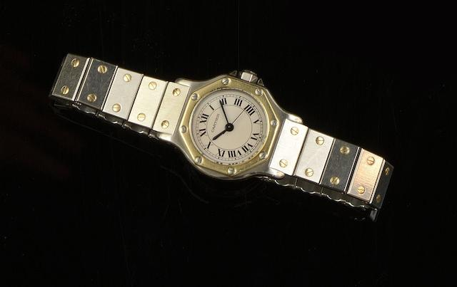 Cartier: A lady's Santos automatic wristwatch