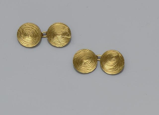 Boucheron: A pair of 18ct gold cufflinks (2)