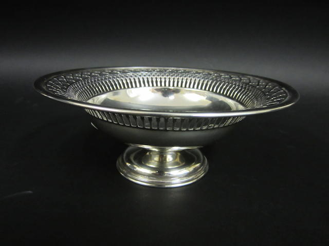 A silver fruit dish By Barker Bros, Chester 1906