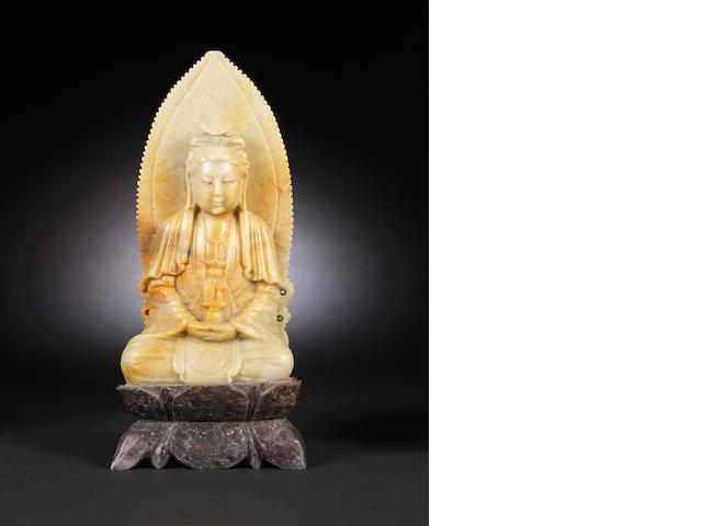 A soapstone carving of Guanyin