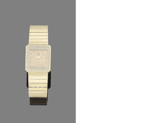 A gold and diamond-set watch, by Kinz