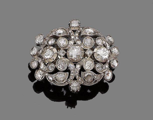 A diamond brooch, first quarter of 19th century