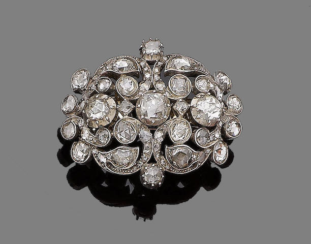 A diamond brooch, first quarter of 19th century