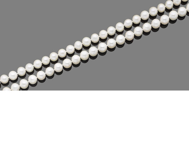A cultured pearl necklace, by H.Stern