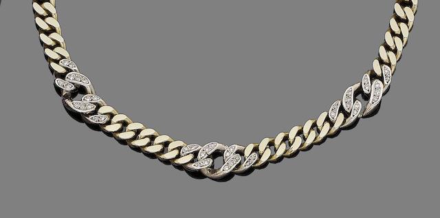 A diamond-set necklace