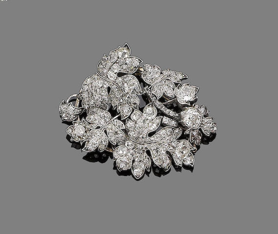 A diamond pendant, last quarter of 19th century