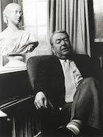 AMIS, KINGSLEY (1922-1995) PORTRAIT BY CHRISTOPHER BARKER, 1986