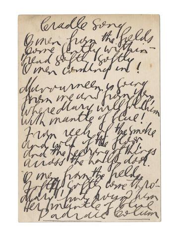 COLUM, PADRAIC (1881-1972, Irish poet)