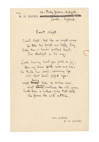 DAVIES, WILLIAM HENRY (1871-1940, Welsh poet)