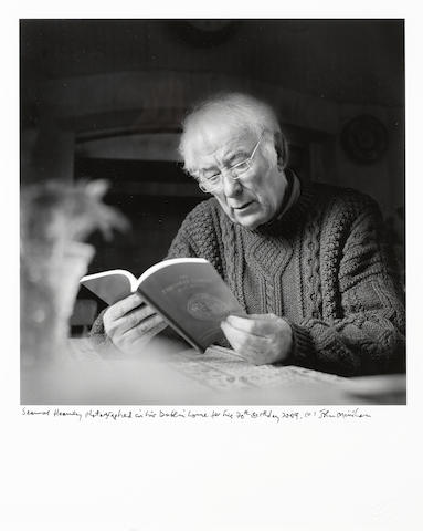 HEANEY, SEAMUS (b. 1939, Irish poet), PORTRAIT BY JOHN MINIHAN (b. 1944), Dublin, 2009