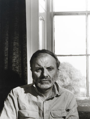 HILL, GEOFFREY (b. 1932), PORTRAIT BY CHRISTOPHER BARKER (b. 1943), 1986 (printed later)