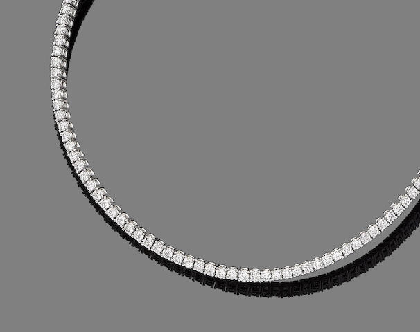 A diamond chocker, by Cellini