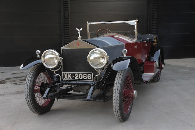 Vendue neuve en Belgique,1921 Rolls-Royce 45/50hp 'Silver Ghost' Alpine Eagle Sports Tourer  Chassis no. 15TE Engine no. N395