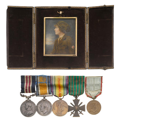 MM group of 4 to E Russell with medal portrait ribbon bar