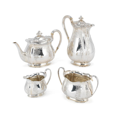 A 1906 Sheffield four piece silver tea service H.A