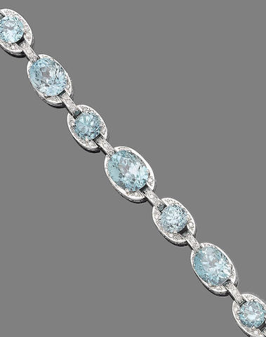 A zircon and diamond bracelet