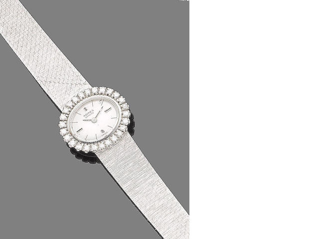 A diamond-set wristwatch, by Admes