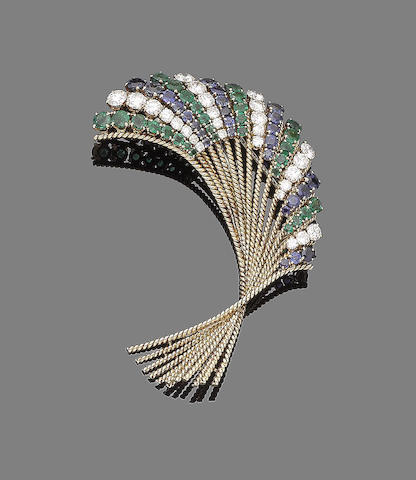 A gem-set spray brooch, by Van Cleef & Arpels