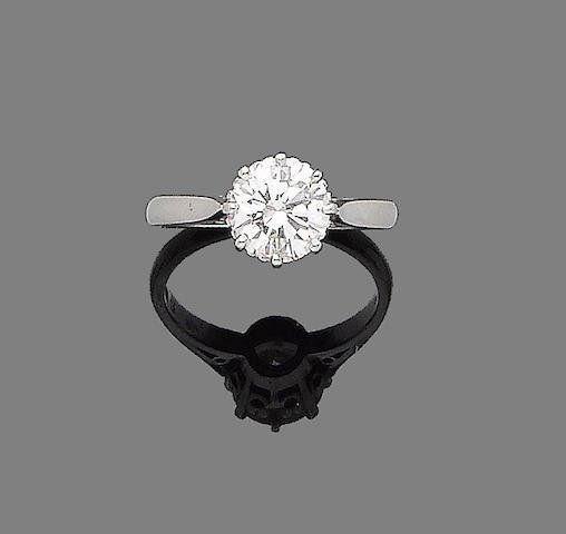 A diamond single-stone ring,