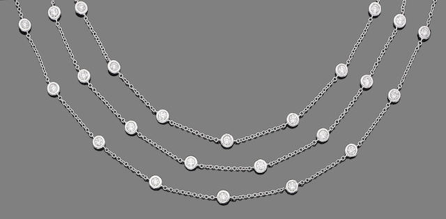 A diamond-set necklace