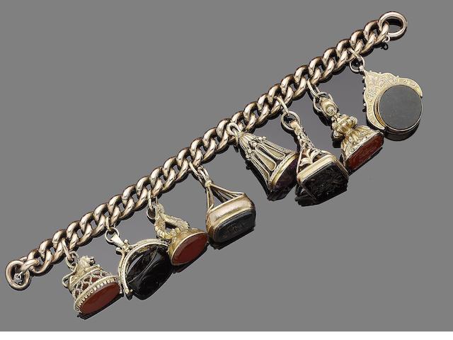 A charm bracelet