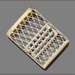 A cigarette case, by Mellerio,