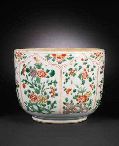 A polychrome enamel deep bowl 17th century
