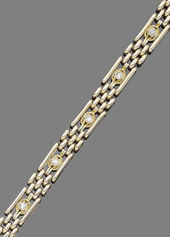 A diamond-set fancy-link bracelet