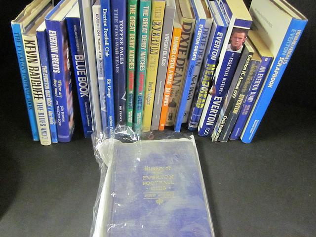 A collection of Everton Books