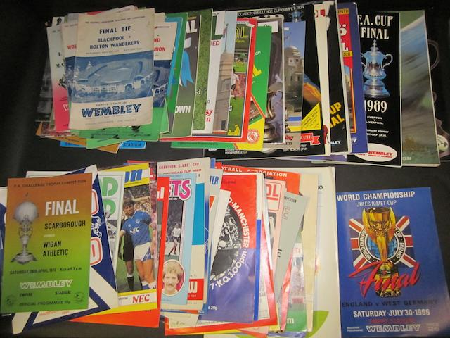 A collection of 1950's onwards various clubs programmes including 1966 World Cup final and F.A. Cup finals/semi-finals